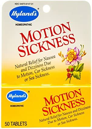 Hylands Motion Sickness Relief Tablets, Natural Relief for Nausea ...