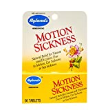 Hyland's Motion Sickness Relief, Natural Treatment of Nausea, Sea Sickness, and Dizziness, 50 Tablets in Travel Bottle