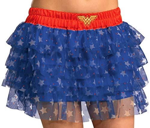 Rubies Secret Wishes  DC Comics Justice League Superhero Style Adult Skirt with Sequins Wonder Woman, Red, One Size