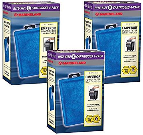 Marineland Rite-Size Cartridge E -12 Total Cartridges (3 Packs with 4 per Pack)