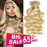 613 Blonde Body Wave Human Hair 3 Bundles 12 14 16 inch 100%