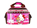 Pink and Brown Hello Kitty Teddy Bear Hug Duffle Bag - Hello Kitty Travel Bag