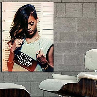 Poster Mural Rihanna R&B Hip Hop Musician 40x54 in (100x135 cm) Adhesive Vinyl
