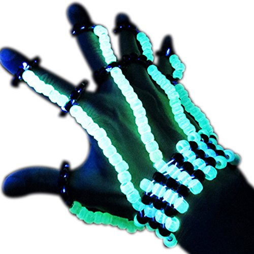 """Décoration pour mains Kandi """"Fluorescent"""" - Kandi Gear, masque pour rave party, masque pour Halloween, masque de perle pour festivals de musique et fêtes"""