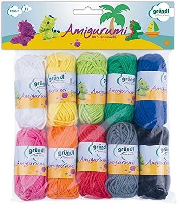 Gründl Amigurumi Kit I de Ganchillo, Algodón, Multicolor, 19.50 ...