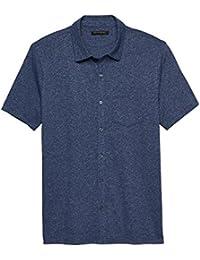 Mens Vintage Button up Blue Shirt