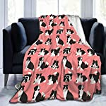 """WdRaIn Border Collie Dog Cute Blanket Flannel Fleece Blanket Soft Microfiber Blanket for Sofa Office Bed and Travelling 50""""x40"""" 6"""