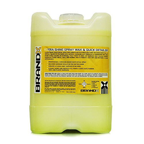 BrandX X10505 X-TRA Shine Spray Wax and Quick Detailer - 5 gal.