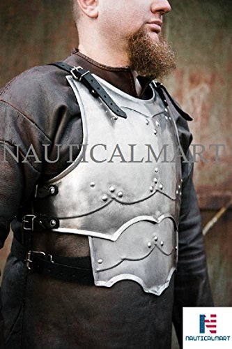 NauticalMart Armor Warrior Mercenary - LARP Steel Cuirass - Chest & Back (Mercenary Halloween Costumes)