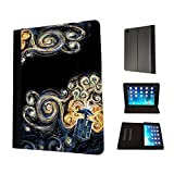 452 - doctor who tardis van gogh canvas Design Fashion Trend TPU Leather Flip Case For Apple iPad 2 ipad 3 ipad 4 Full Case Flip TPU Leather Purse Pouch Defender Stand Cover