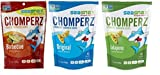 SeaSnax Chomperz Crunchy Seaweed Chips 3 Flavor Variety Bundle: (1) SeaSnax Chomperz Jalapeno, (1) SeaSnax Chomperz Original, and (1) SeaSnax Chomperz BBQ, 1 Oz. Ea. (3 Bags Total)