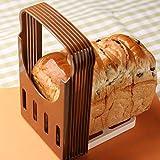 LJ-MBJ Toast Slicing Machine, Folding Adjustable Bread Slicer, Rapid Slicing, Thickness Uniformity, Loaf Slicer Cutter, Bagel Sandwich Toast Slicer, Bread Cutting-A