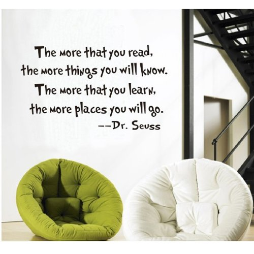 MLM The More That You Read Dr seuss Wall Sticker Home Decal Decor Quote Art Vinyl DIY