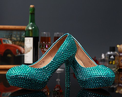 Green 14cm vert 34 compensée femme Heel Miyoopark Semelle vw8qfSxSP
