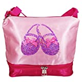 Tutu Ballet Bag | Satin & Sequins Girls' Ballerina Dance Shoes Duffle Tote Bag