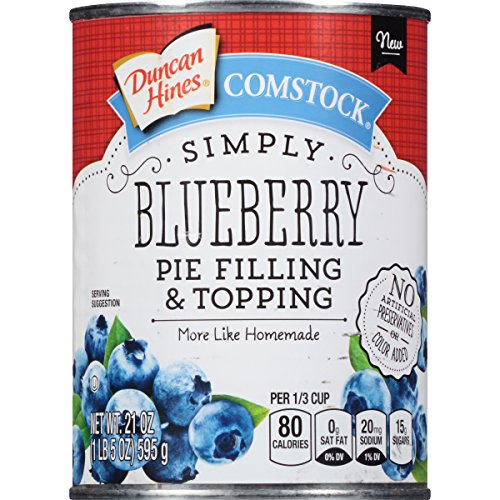 Comstock Simply Pie Filling & Topping, Blueberry, 21 Ounce (Pack of 8) by Comstock