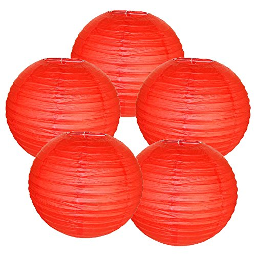 Just-Artifacts-8-Red-Paper-Lanterns-Set-of-5-Click-for-more-ChineseJapanese-Paper-Lantern-Colors-Sizes