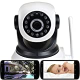 VideoSecu Wireless IP Baby Monitor Video Day Night Vision Security Camera with Pan Tilt Wi-Fi for iPhone, iPad, Android Phone or PC Remote View IPP105W 1U2 For Sale