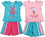 TREAT YOUR LITTLE PRINCESS TO THE PRETTIEST SHORTS SET   Unleash the Cuteness  Just Love's shorts set is the very definition of painfully adorable! With its ultra-cute applique, beautiful embroidery and colors as vibrant as your little one's persona...