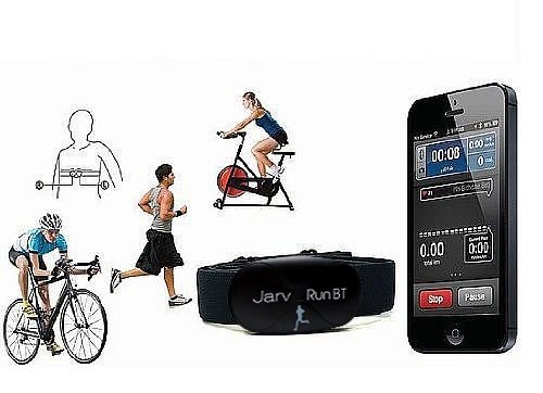Jarv Bluetooth Wireless Heart Rate Monitor and Sensor. (soft adjustable chest strap) Use with iPhone 7 6 6S 6 Plus, iPad Mini, Air , Pro and All Other Apple IOS Devices