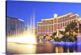 Maurizio Rellini Premium Thick-Wrap Canvas Wall Art Print entitled United States, Nevada, Las Vegas, Bellagio hotel with it's fountains night show