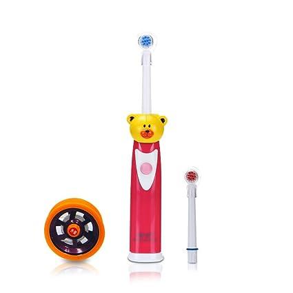Los niños cepillo de dientes eléctrico rotatorio impermeable de dibujos animados de cerdas suaves automática de