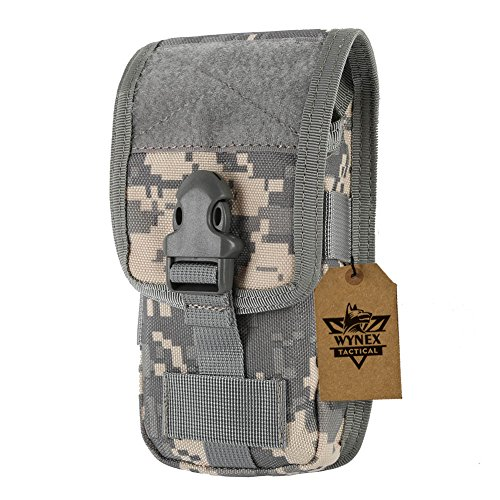 - Wynex Smartphone Molle Pouch, Smartphone Holster,Tactical Accessories Small Gadget Gear Bag EMT EDC Pouches Modular Army Utility Pocket Waterproof Suit for Tactical Belt 1000D Nylon (ACU Camo)