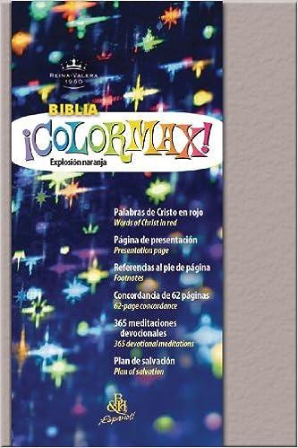 Book RVR 1960 Biblia ColorMax!, Platino efervescente