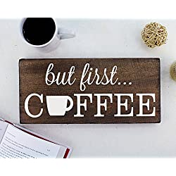 But First Coffee Sign Rustic Kitchen Decor Kitchen Wall Decor Kitchen Signs Kitchen Wall Art Coffee Decor Kitchen Art Rustic Office Decor