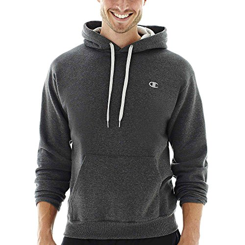 Hanes S2467 Eco Fleece Pullover Mens Hoodie, Granite Heather Grey - Medium