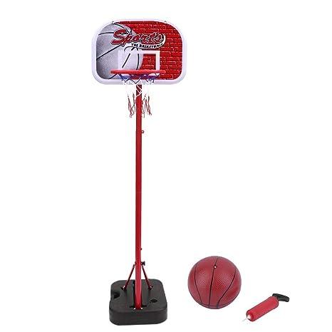 Mejor Regalo para Ni/ños Homgrace Canasta de Baloncesto Port/átil para Ni/ños Ajustable 75-160 cm Soporte de Baloncesto