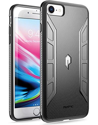 Poetic Karbon Shield Rugged Skin Carbon Fiber TPU Case for iPhone 7 (Black)