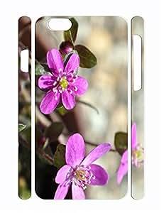 Custom Vivid Flower Print Slim Cell Phone Skin Case for Iphone 6 Plus 5.5 Inch