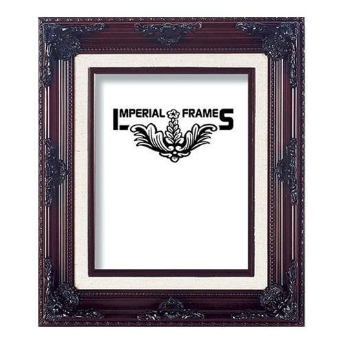 MyFrameStore 16x20 Imperial Wooden Picture Frames - Dark Mahogany | Exclusive Floral Design for Wedding, Hallway, Bedroom, Living Room & Office Décor. Wall Photo Frame & Wall Mounting Material, - Imperial Crystal Twelve Light