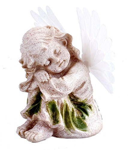 (Bo-Toys Solar Powered Angel with Solar Fiber Optic Wings LED Garden Light Decor)
