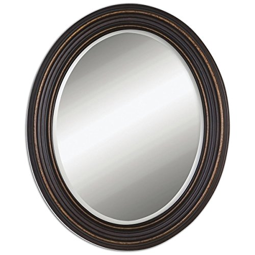 Uttermost 14610 Ovesca Oval Mirror, Bronze