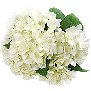"Felice Arts Artificial Flowers 18"" Silk 7 Big Head Hydrangea Bouquet Wedding, Room, Home, Hotel, Party Decoration ¡­ 37"