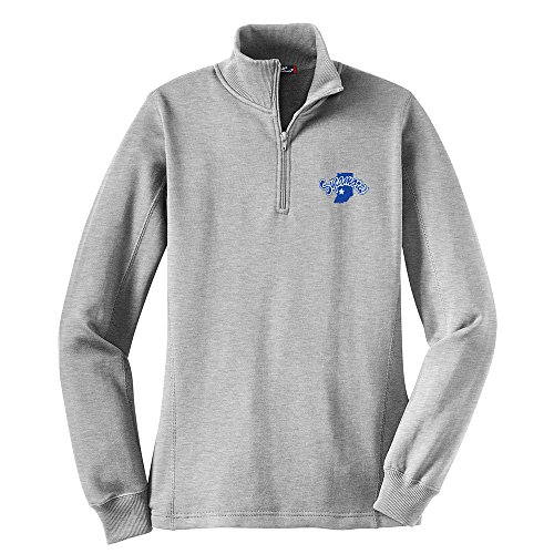 Indiana State Sycamores Ladies 1/4 Zip Pullover, X-Small, Athletic Heather