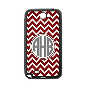 Samsung N7100 GALAXY Note2 Case Retro Red White Chevron Design VS Personality Circle Monogram Luxury Cover Case Plastic For Samsung N7100 GALAXY Note2 By @ALL
