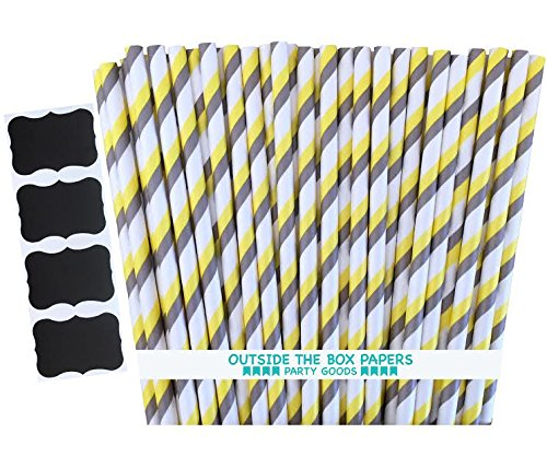 Outside Box Papers Striped Straws product image