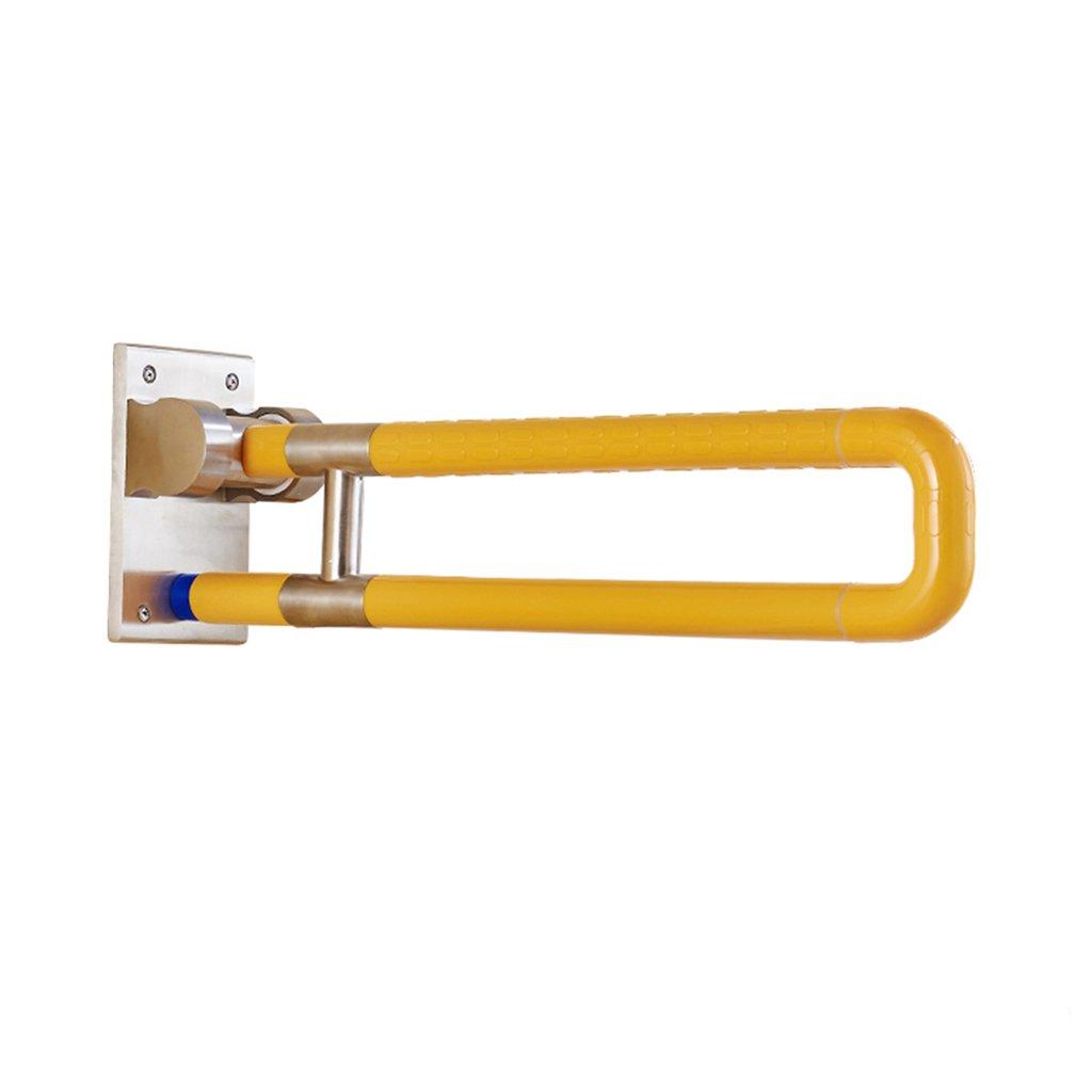 ノンスリップ、ノンスリップ、折畳み手すり、トイレ、トイレ、手すり、黄色 B07FTQZP1Z