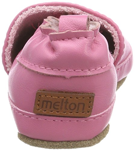 Melton Baby Mädchen Krabbelschuh Maus Aus Weichem Leder Mehrfarbig (Griffin Grey)