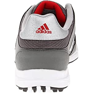 adidas Men's Tech Resonse 4.0 Golf Shoe,Iron/White/Black,12.5 M US