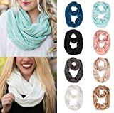 Knit Scarfs for Women Hot Sale,deatu Clearance Ladies Winter Warm Infinity 2 Circle Knit Long Scarf Shawl