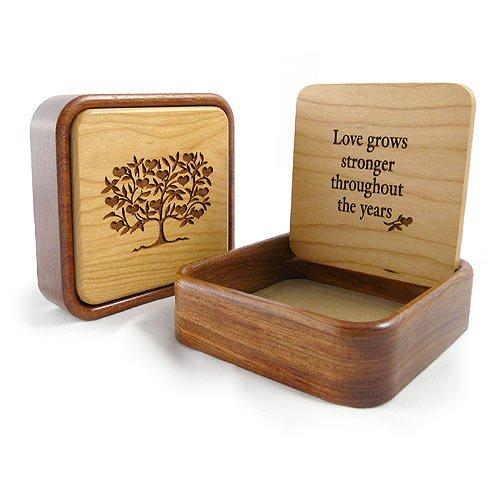 Modern Artisans Love Grows Stronger Engraved Keepsake/Jewelry Box, 4.5