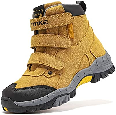 Kids Hiking Boots Boys Girls Outdoor Walking Climbing Sneaker Comfortable  Non-Slip Snow Shoes Hiker Boot Antiskid Steel Buckle Sole Boys'