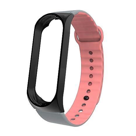 Amazon.com: splendidsun Mi Band 4 Strap, Dual-Color Silicone ...
