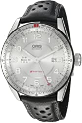 Oris Men's 'Audi' Swiss Stainless Steel and Leather Automatic Watch, Color:Black (Model: 74777014461LS)