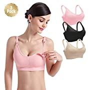 3PACK Womens Nursing Bra Bralette for Maternity and Breastfeeding Seamless Wireless Breathable Sleeping Bra XL