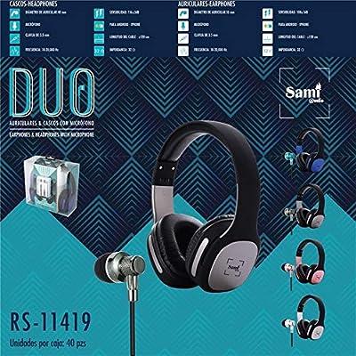 Sami RS11419A - Auriculares Diadema + Cascos: Amazon.es: Electrónica